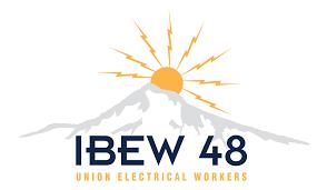 IBEW 48 Union Electrical Workers Logo